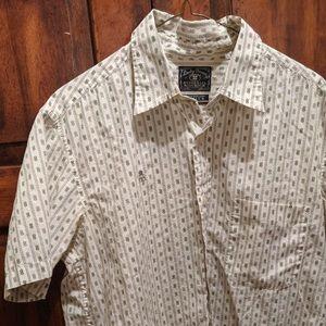 Lucky Brand Men's Button Down Short Sleeve MEDIUM